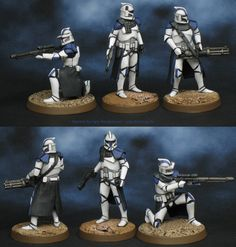 Agis Page of miniature painting and gaming - Legion Star Wars Clones, Star Wars Clone Wars, Star Wars Art, Images Star Wars, Star Wars Pictures, Star Citizen, Maquette Star Wars, 501st Clone Trooper, Star Wars Figurines
