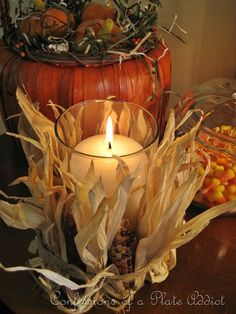 Like this idea for fall decorating!