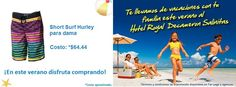 ¿Prefieres la comodidad en la playa? Que te parece este Short Surf Hurley para dama $64.44 http://amzn.com/B00AX6KQVY