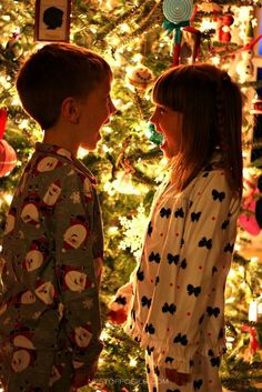 How cute would it be to take photos in Christmas PJs in front of the tree each year!