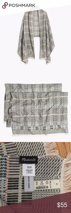 NWT Madewell Artista Cape Scarf Brand new with tags, never worn or washed. Beautiful patterned cape scarf that can be worn as a cape or a scarf. 100% cotton. Madewell Accessories Scarves & Wraps