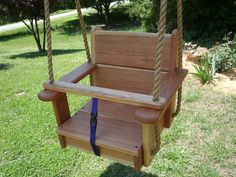 Our Premium Kids Wood Seat Tree Swing. This tree swing is made from genuine Cherry Wood. This swing has a high quality water-sealer applied. (When