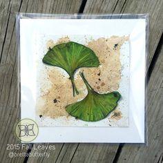 Original Watercolor Ginkgo Leaves - Green