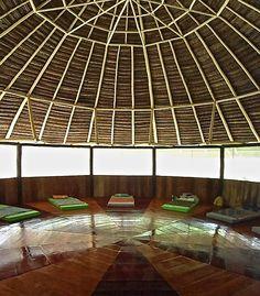 Maloka for ayahuasca ceremonies - El Jardin de la Paz healing ...