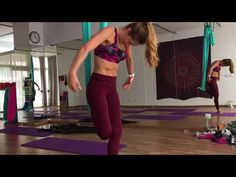 Aerial yoga dance routine by Paula Costa - YouTube