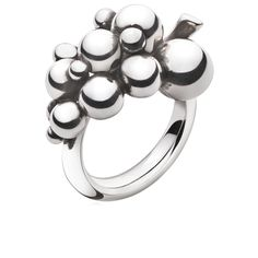 Georg Jensen  MOONLIGHT GRAPES ring - sterling silver, liten