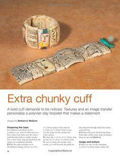 Faux Bone Bracelet bracelet, chunki cuff, pattern, curl
