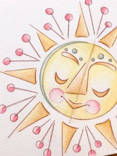 Your place to buy and sell all things handmade Sun Art, Food Art, Watercolor Art, Original Art, Handmade Items, Art Prints, Wall Art, The Originals, Painting
