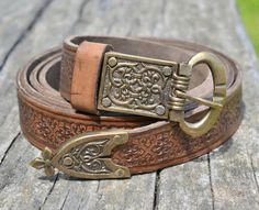 Deluxe Medieval Leather Belt - wulflund.com $36.71