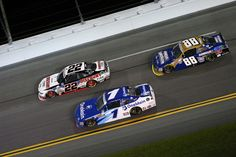 Chase Elliott Photos - Joey Logano, driver of the #22 Discount Tire Ford, leads Elliott Sadler, driver of the #1 OneMain Chevrolet, and Chase Elliott, driver of the #88 Armour Sandwich Creations Chevrolet, during the NASCAR XFINITY Series Subway Firecracker 250 at Daytona International Speedway on July 1, 2016 in Daytona Beach, Florida. - NASCAR XFINITY Series Subway Firecracker 250 Powered by Coca-Cola