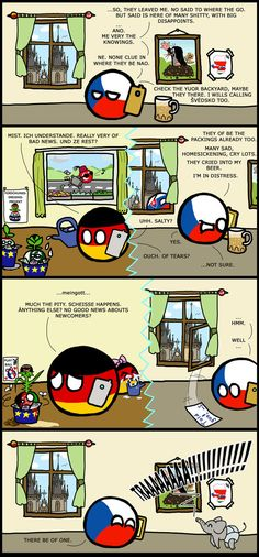 Countryballs: Newcomers in Europe by KorNaXon