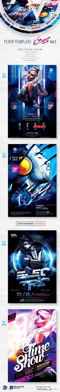 Flyer Bundle Template #flyertemplate Buy and  Download: http://graphicriver.net/item/flyer-bundle-vol35-4-in-1/12147185?ref=ksioks