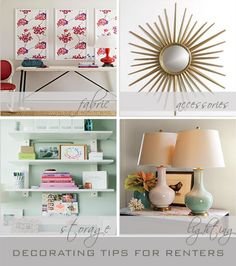 tips for decorating a rental