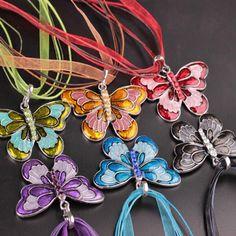 Ribbon Butterfly Pendant