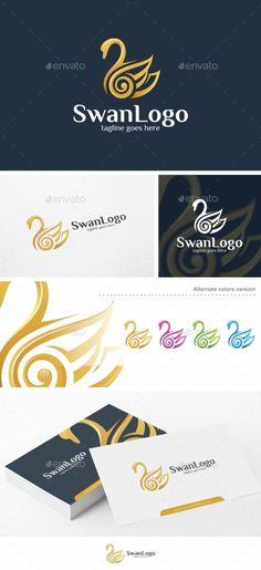 Swan Logo Design - Logo Template - Animals Logo Template Vector EPS, Vector AI. Download here: http://graphicriver.net/item/swan-logo-logo-template/16478096?s_rank=759&ref=yinkira