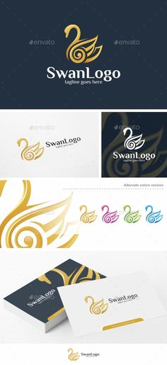 Swan Logo Design - Logo Template - Animals Logo Template Vector EPS, Vector AI. Download here: http://graphicriver.net/item/swan-logo-logo-template/16478096?s_rank=759&ref=yinkira