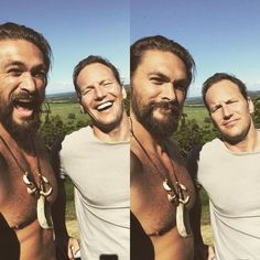 Jason Momoa shares kind words about 'Aquaman' and his co-star Patrick Wilson - http://moviesandcomics.com/index.php/2017/04/14/jason-momoa-shares-kind-words-about-aquaman-and-his-co-star-patrick-wilson/