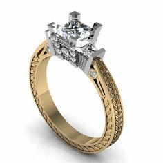 Modern Engagement Ring Designs | Diamond Engagement Ring Designs Vintage-Design-Diamond-Engagement-Ring ...