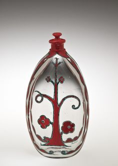 Bottle with Flowering #Tree | Corning Museum of #Glass #spring
