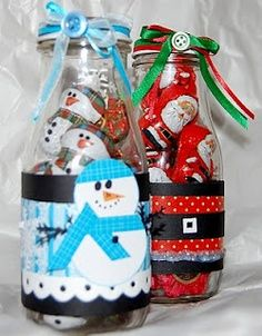Light Whimsy: Give a gift - altered frappuccino bottles