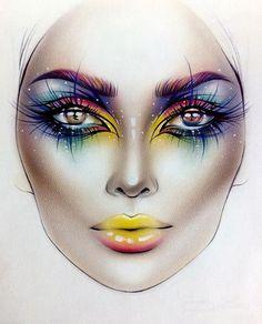 Você deve estar se perguntando o que é e para que serve uma Face Chart. Como fazer, qual tipo de papel e material devo usar? Veja modelos e inspirações.