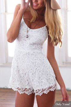 This translucency lace cami romper is the true definition of a one-piece wonder. With its allover lace, this piece can be paired with almost anything, from blazers to stiletto heels.