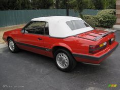 Bright Red 1986 Ford Mustang GT Convertible Exterior Photo ...