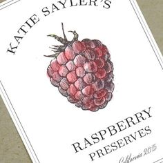 Raspberry Jam Labels canning labels customized by nancynikkodesign, $19.75