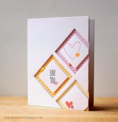 Love You Card by Cristina Kowalczyk for Papertrey Ink (February 2014)