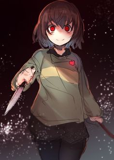 Chara's ready to chop some vegetables.
