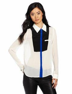 aryn K Women`s Collared Tuxedo Blouse $68.04