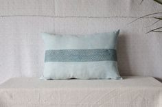 Textured pillow light blue pillow lace cushion by EthicalLifeStore