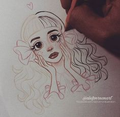 Online shopping for Pastel Drawings from a great selection at Collectibles & Fine Art Store. Martinez Melanie, Melanie Martinez Drawings, Crybaby Melanie Martinez, Desenhos Tim Burton, Art Sketchbook, Manga Art, Oeuvre D'art, Cute Drawings, Cute Art
