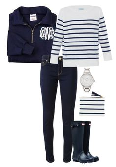"""""""navy fall"""" by sassy-and-southern ❤ liked on Polyvore featuring Michael Kors, HANIA by Anya Cole, Hunter and Kate Spade"""