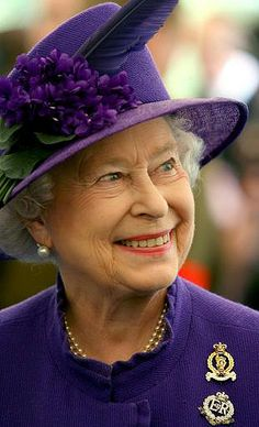 royal purple, Queen Elizabeth II
