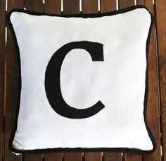 """Gift Idea, Nursery Pillows, Children bedroom decor, Custom Children Pillow Monogrammed  12"""" x12""""- name pillow cover"""
