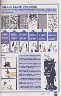 Scan from Wizard Magazine Basic Training: Part 4 of 6 Joe Kubert shows how to ink. Comic Book Artists, Comic Book Characters, Comic Artist, Comic Books Art, Figure Drawing, Drawing Reference, Wizard Drawings, Perspective Drawing Lessons, Comic Book Drawing