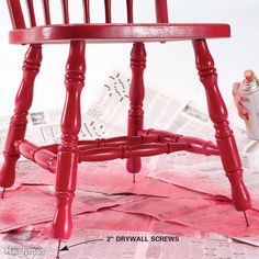 Ever paint a chair and have it stick to your newspaper ordropcloth