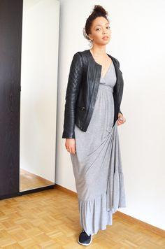 #mercredie #fashion #blogger #mode #blog #geneva #switzerland #suisse #geneve #maxi #robe #dress #longue #grey #grise #casio #montre #watch #vintage #orange #lipstick #lips #saigon #summer #mac #nike #running #free #run #freerun #bun #nappy #afro #curly #hair #frises #leather #jacket #veste #cuir #blouson #bel #air #belair #paris