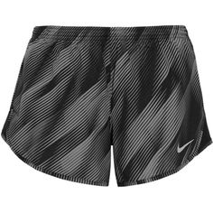 Nike Tempo printed shell shorts ($45) ❤ liked on Polyvore featuring activewear, activewear shorts, shorts, black, nike activewear, nike and nike sportswear