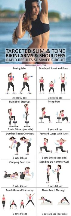 #womensworkout #workout #femalefitness Repin and share if this workout gave you sexy bikini arms! Click the pin for the full workout.