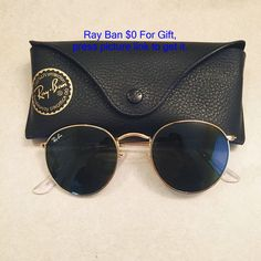 round gold metal Ray Bans Authentic Round gold metal Ray Ban In perfect condition, worn only a few times. Cute Sunglasses, Sunglasses Outlet, Ray Ban Sunglasses, Sunglasses Accessories, Sunglasses Women, Fashion Accessories, Sunnies, Luxury Sunglasses, Versace Sunglasses