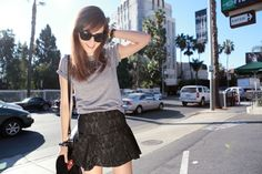 Cute look. Black Lace Skirt, Sequin Skirt, Style Scrapbook, Scrapbook Blog, Zara Skirts, Models Off Duty, Spring Summer Fashion, Style Me, Fashion Beauty