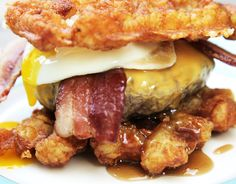 Cheat Day Level: Epic... This Hash Brown Breakfast Burger Is All You Need In Your Life