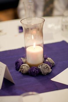 DIY Centerpieces - maybe just a small square overlay instead of a full sized one - could be cheaper?