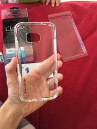 Samsung Galaxy S7 edge Ghostek Cloak case The Ghostek Case looks pretty nice. It's transparent, so you can always see your device's back, unlike other cases that hide the phone from all but the front side. Buy here: http://www.mobilephoneaccessory.online/rbzc