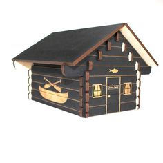 Log Cabin 3D Puzzle - Personalized_$30
