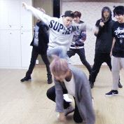 BTS Jimin kicking V. A true love story. They were dancing war of hormone where they could do whatever they wanted
