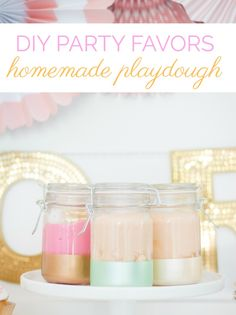 DIY Party Favors | Homemade Play Dough - A Thoughtful Place