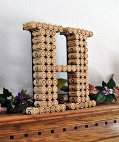 Wine Cork Letter Monogram